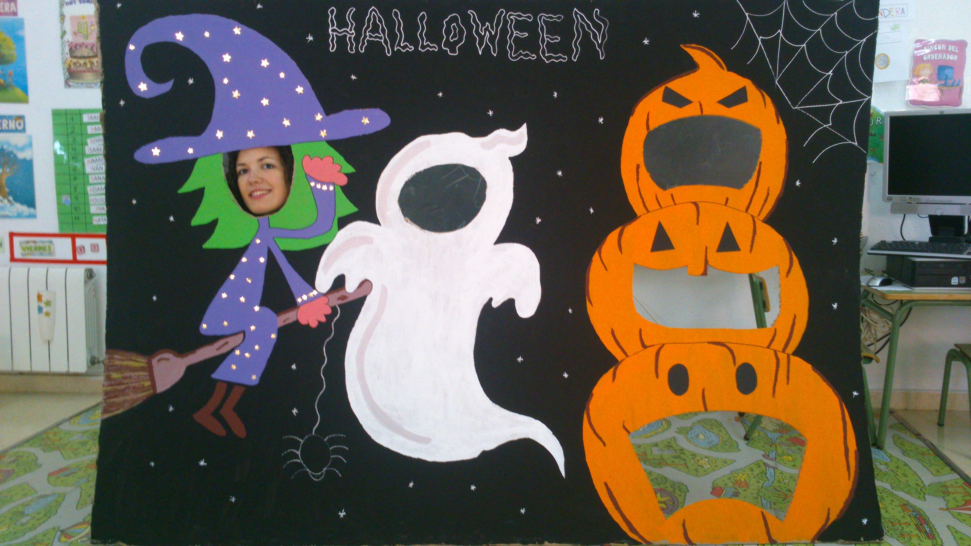 Puertas decoradas el mundo de trixi - Decoracion halloween infantil ...
