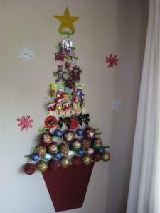 puerta navidad árbol