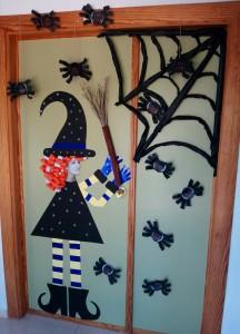 puerta halloween bruja