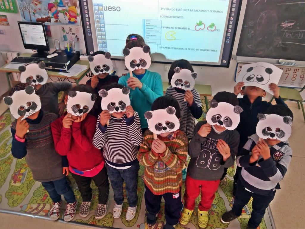 careta de osos panda